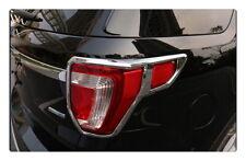 Chrome Rear Tail light lamp cover trim For Ford Explorer 2016-2018