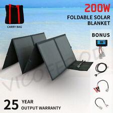 200W 12V Folding Solar Panel  Mono Kit Silicon Flexible Solar Blanket Camping
