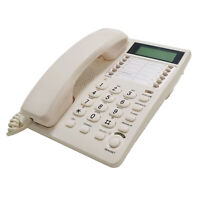 Blue Donuts BD-098WHT2-White Caller ID Phone for wall or desk with Speaker and M