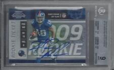 HAKEEM NICKS 2009 PLAYOFF CONTENDERS ROOKIE TICKET RC SP /318 AUTO #114 RC BGS 9