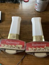 2 Budweiser Beer Bar Light - Clydesdale Horses Pulling Beer Wagon