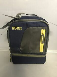 Thermos Insulated Lunch Box - Navy Blue/Yellow