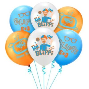 "Blippi Balloons 12 pcs 12"" Latex Birthday Party Fun DECOR AU STOCK balloon"