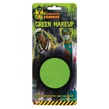 GREEN BIOHAZARD ZOMBIE GREASE PAINT MAKEUP Neon Face Costume Halloween Washable