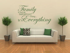 """Family Wall Quote """"Family is..."""" Wall Sticker, Modern Vinyl Transfer, decal, pvc"""