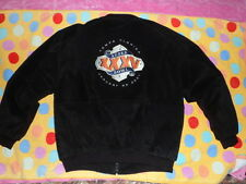 JEFF HAMILTON COCA-COLA KRAFT Black SUEDE Heavy Jacket Super Bowl XXXV 35 sz L