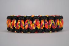 550 Paracord Survival Bracelet Cobra Black/Phoenix Sunrise Camping Tactical