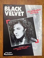 Black Velvet by Alannah Myles piano vocal guitar music song sheet