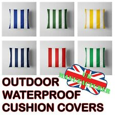 Square Outdoor Waterproof Cushion Cover Stripes Striped Cushion Pillow Cases