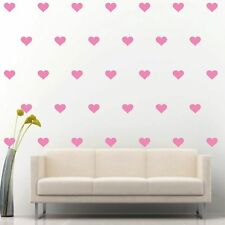"""96 of 3"""" Soft Pink Hearts DIY Removable Peel & Stick Wall Vinyl Decal Sticker"""