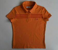Polo Adidas T-shirt Top Casual Sports Orange Rare Classic Womens M