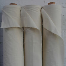 "100% Natural Cotton Calico Fabric Medium Weight 145gsm 63"" Handcraft 1M RRP£8.99"