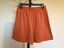 New Women's White&Stag Elastic Waist Orange 100%Cotton Casual Short Size S (4-6)