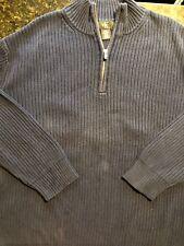 Calvin Klein Men's 1/4 Zip Sweater Pullover NAVY, Cotton Size 2XL