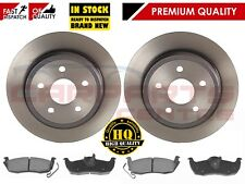 FOR JEEP GRAND CHEROKEE WH WK REAR BRAKE DISC PAIR DISCS PAD PADS SET 2005-2010