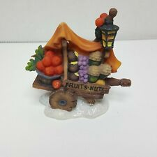 Lemax O'Well Figurine Fruit Cart Village Christmas Holiday