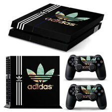 PS4 PlayStation 4 Skin Stickers PVC for Console & 2 Pads ***Black Adidas