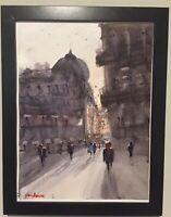 "Watercolor Painting Austria ORIGINAL ""VIENNA SUNSET"" 9x12 by John Harrison"