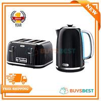 Breville Impressions Jug Kettle 1.7L & 4 Slice Toaster Set Black VKJ755 + VTT476