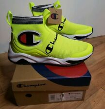 Champion Men's Rally Pro Neon Yellow Athletic Lifestyle Running Shoes Sz 10