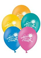 """Get Well Soon - 12"""" Printed Mix Assorted Latex Balloons pack of 6"""