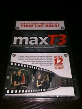 MaxT3 Only 12 Minutes A Day Exercise Workout 2 Disc DVD Set. NEW SEALED