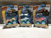 BLAZE and the MONSTER MACHINES WATER RIDERS LOT Of 3 Darlington Stripes Blaze
