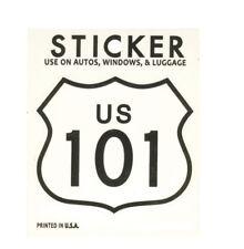 "California Highway 101 Vinyl Sticker - Will not fade in the sun, 2-7/8"" x 2-1/2"""
