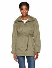 Columbia Womens Pardon My Trench Rain Jacket Sage Size Small