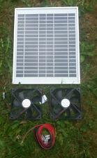 Hipower Solar Twin 12CM Ventilador Ventilación Kit Para Perrera, casa de pollo, aviario