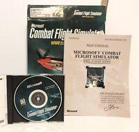 Microsoft Combat Flight Simulator WWII Europe Series PC Game & Manual WW2
