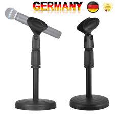 Mikrofon Tisch Stativ schwarz Podcast Redner Vorlesung Ständer Klemme 345mm J0V2