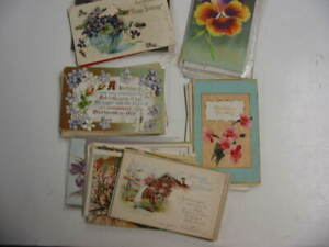 50 Older Birthday Postcard Lot