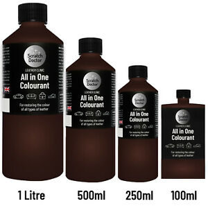 ALL IN ONE DARK BROWN Leather Colourant. Repair Recolour. Dye Stain Paint Colour