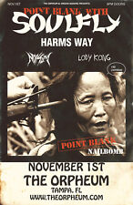 """SOULFLY / HARMS WAY """"POINT BLANK"""" 2017 TAMPA, FL CONCERT TOUR POSTER-Heavy Metal"""