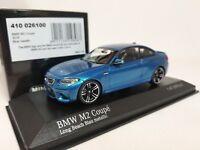 1:43 Minichamps BMW M2 Coupe F87 2016 M 2 Series F22 Twin Turbo I6 Blue Metallic