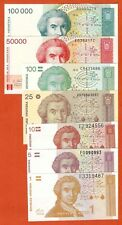P16-27  SET   Croatia/ Kroatien  1+5+10+25+100+50T+100T Kuna 1991-93   UNC
