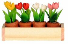 Miniature Dollhouse Fairy Garden Tulips in Flower Box - Buy 3 Save $5