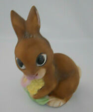 Vintage Enesco Bunny Rabbit Figurine Easter Decor Made in Taiwan, republic Roc