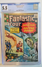 FANTASTIC FOUR #23 *CGC 5.5 OW TO WHITE PAGES* DR DOOM APPEARANCE