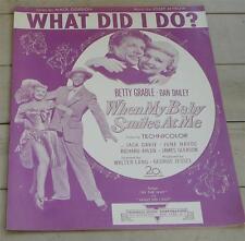 What Did I Do?, Josef Myrow, Mack Gordon, 1948 OLD SHEET MUSIC