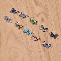 1 Pair Butterfly Pendant Charms DIY Necklace Making Bracelet Jewelry Accessory
