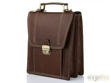 Office SHOULDER BAG Stylish Men's  Vertical KANZ BRAND for Documents new BROWN