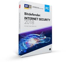 Bitdefender Internet Security 2017 2018 antivirus 6 months 1 PC activation