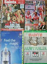 More details for st helens saints rugby league set of 4 programmes - 1990, 2006, 2007, 2014
