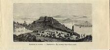 Stampa antica SIBENIK Sebenico Forte San Giovanni Croazia 1885 Old antique print