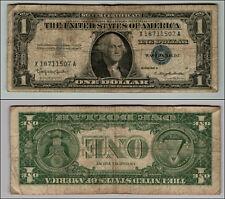 1957B  $1  DOLLAR BILL SILVER CERTIFICATE BLUE SEAL   BANKNOTE  LOT #W68