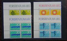 Liechtenstein 1966 Nature Protection set  in block x 4 MNH