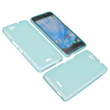 Getaway Bag-To Wiko Cell Phone Pocket Cases TPU Rubber Blue