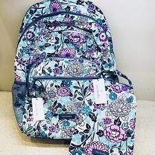 Vera Bradley Lighten up Essential Large Backpack Scattered Wildflowers